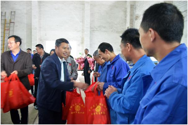 樟树市政协主席谌厚有看望慰问我司劳模代表和先进团队